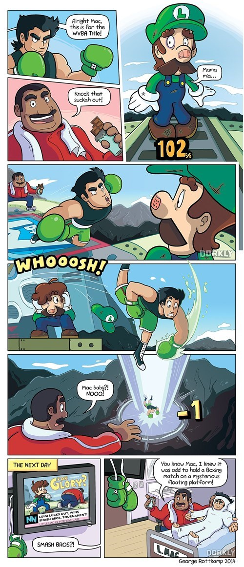 super smash bros,little mac,web comics