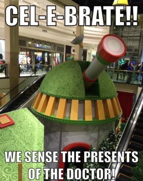 christmas,mall,daleks