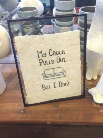 needlepoint wtf couch pull out sexy times funny - 8385342464