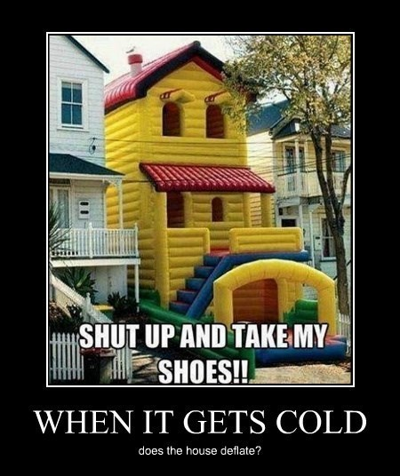 Heat,Bouncy House,cold,winter,funny