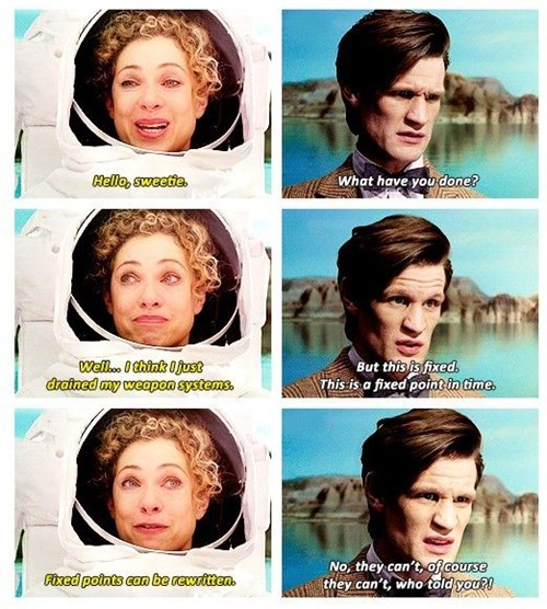 wibbly wobbly timey wimey,11th Doctor,River Song