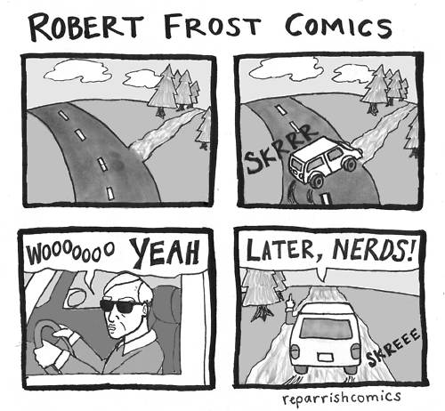 robert frost roads web comics
