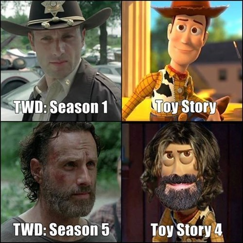 Rick Grimes,woody,beard,toy story