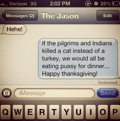 pilgrims thanksgiving texting - 8385491456