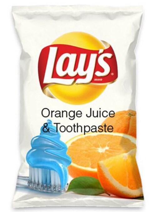 Lays orange juice potato chips toothpaste do us a flavor - 8385497600