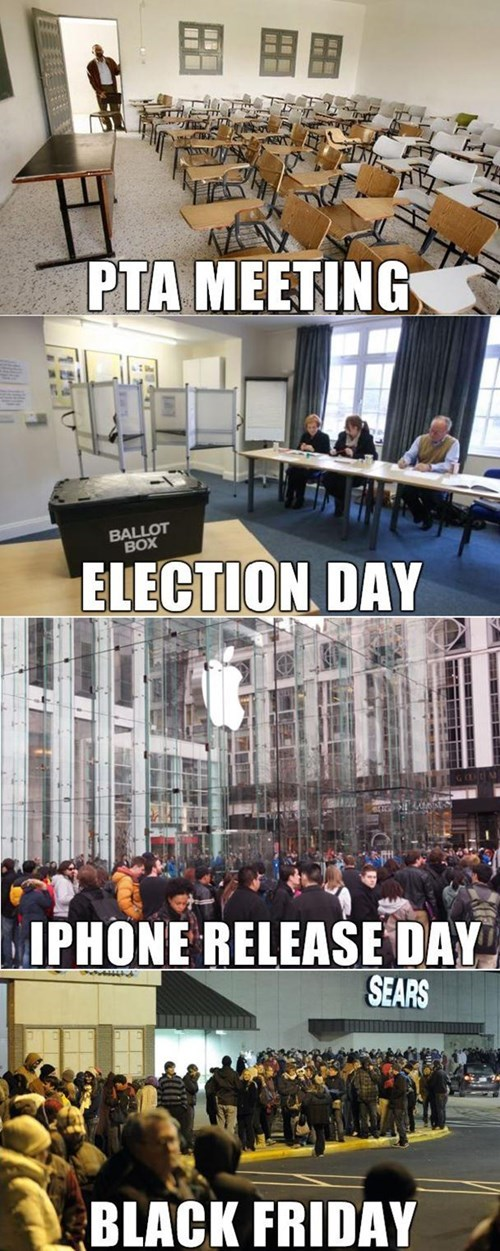 school,election day,iPhones,thanksgiving,black friday,education