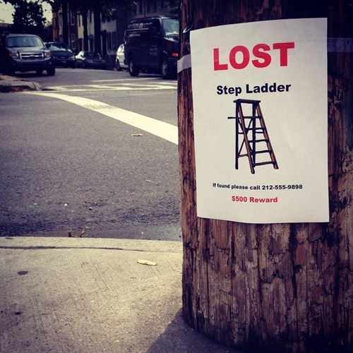 sign,lost and found,clever,hacked irl