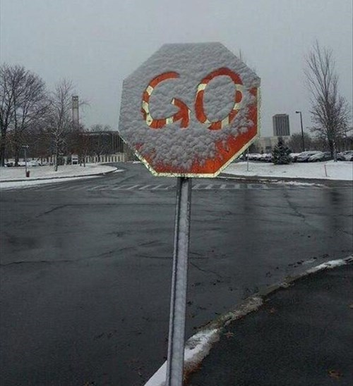 snow stop sign hacked irl winter - 8385585408