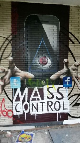 illuminati Street Art hacked irl social media - 8385597184