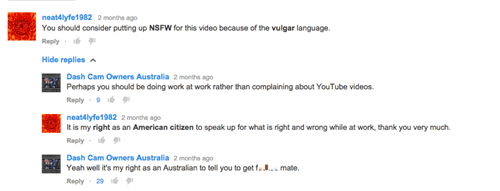 youtube,australia,youtube comments,burn,failbook