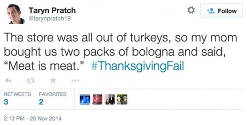 twitter thanksgiving gross food failbook g rated - 8385603584