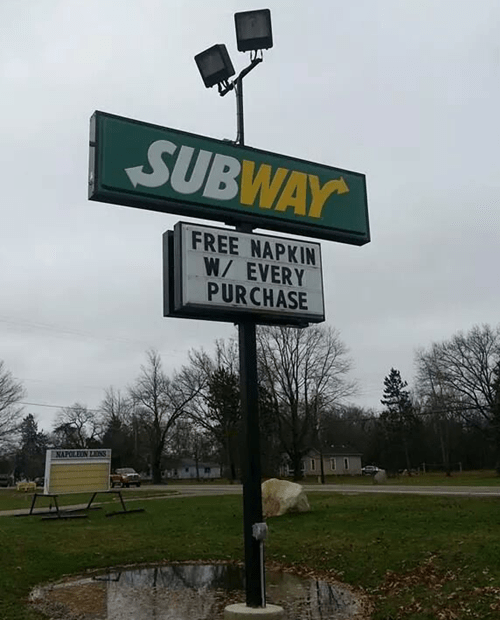business signs,Subway