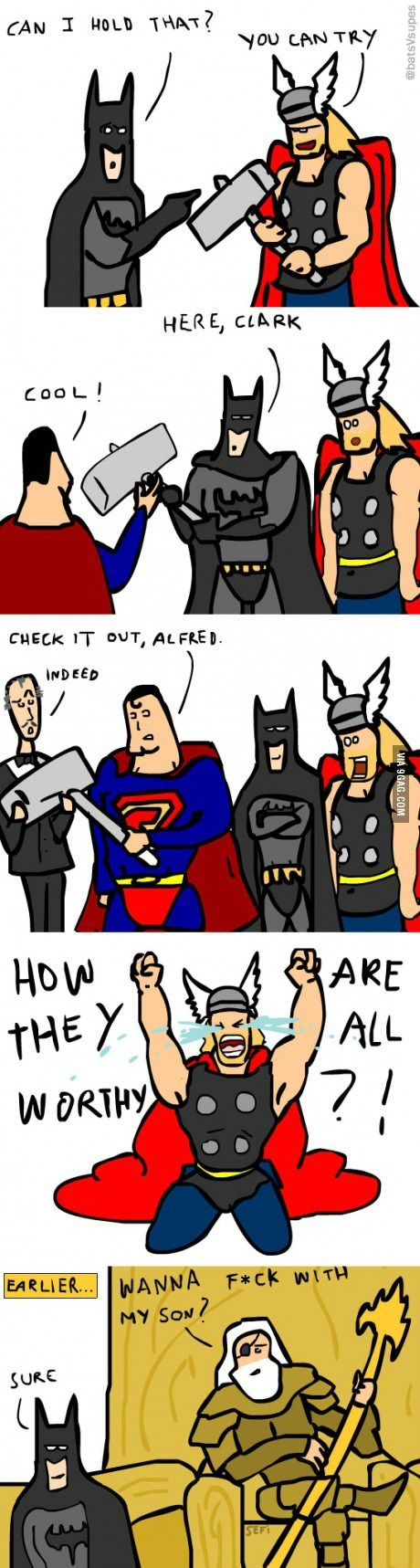 Thor mjolnir batman superman - 8386036480