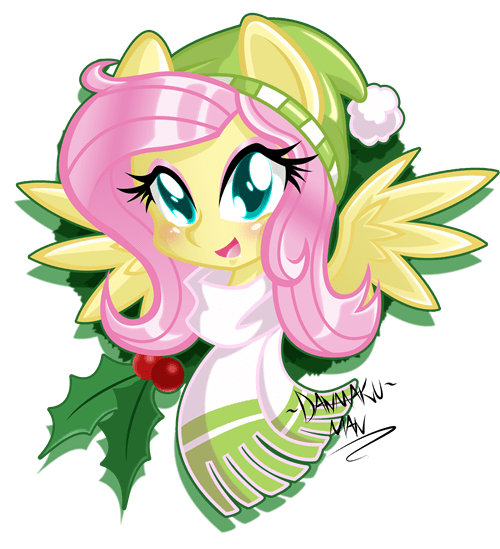 christmas fluttershy squee - 8386052352