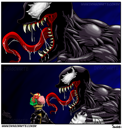 ice cream Venom web comics - 8386083328