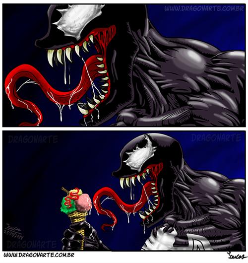 ice cream Venom web comics - 8386083328