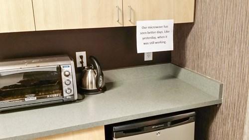 monday thru friday sign microwave - 8386085120
