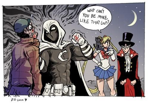 moon knight anime Fan Art sailor moon