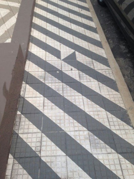 monday thru friday,floor,you had one job,stripes,tiles