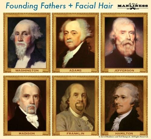 Benjamin Franklin founding fathers thomas jefferson george washington beards - 8386166528