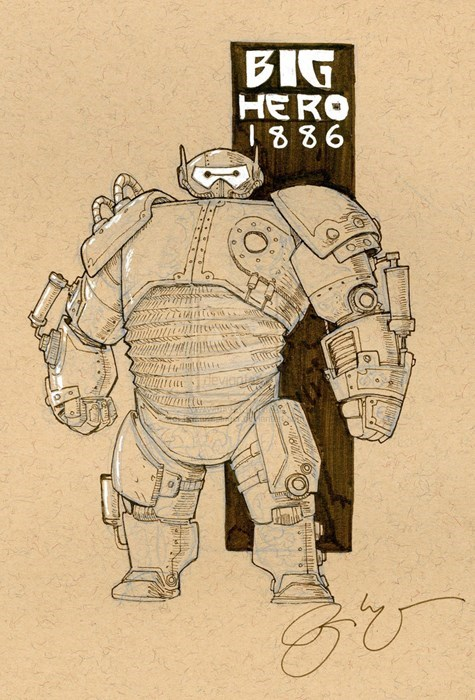 baymax,disney,Steampunk,big hero 6,Fan Art