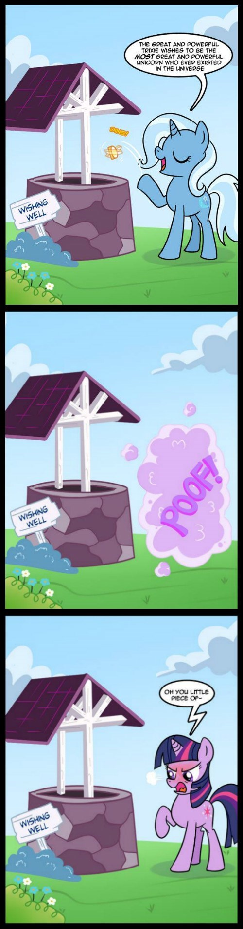the great and powerful trixie twilight sparkle wishing well - 8386279168