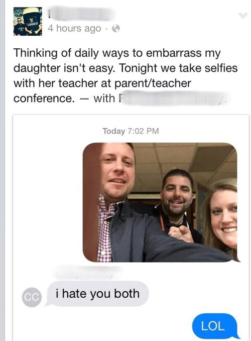 embarrassing parenting parentbook selfie failbook g rated - 8386412288