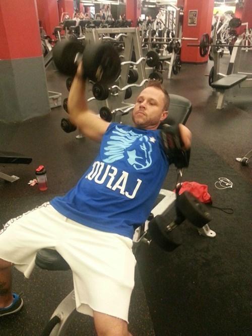 gym workout mine's laziness BAMF