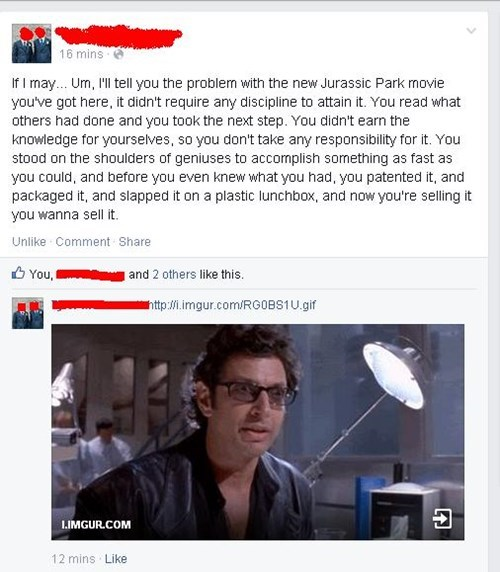 jeff goldblum,movies,jurassic park,burn