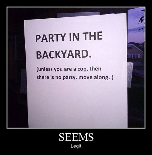 backyard cops funny Party - 8386522880