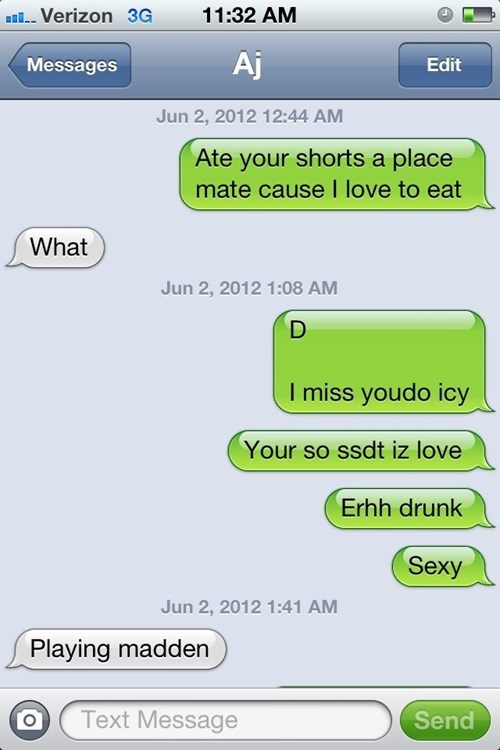 drunk text girlfriend texting - 8386595328