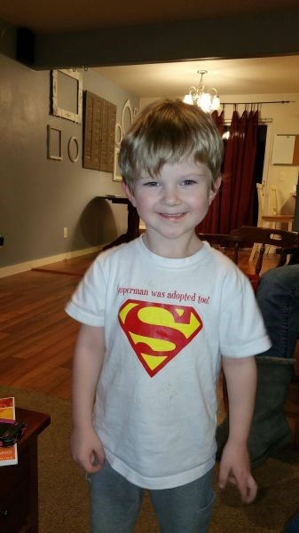 adoption kids parenting t shirts superman - 8386829312
