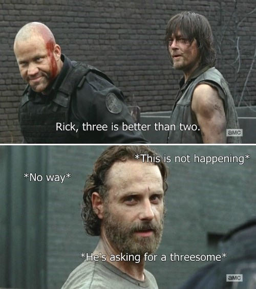 Rick Grimes,daryl dixon,sexy times