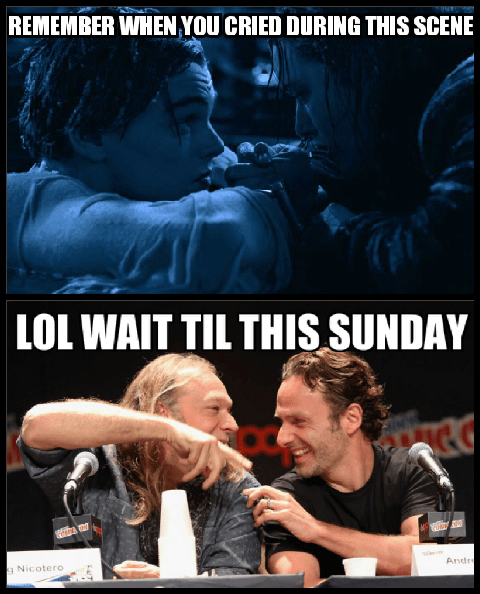 titanic The Walking Dead crying - 8386840320