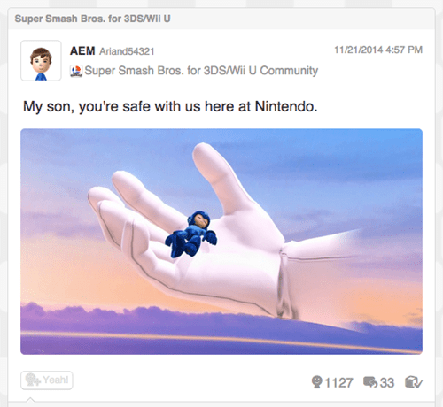 Miiverse super smash bros mega man capcom nintendo - 8386944256
