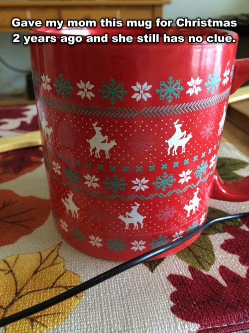 christmas reindeer mugs Xmas - 8386949376