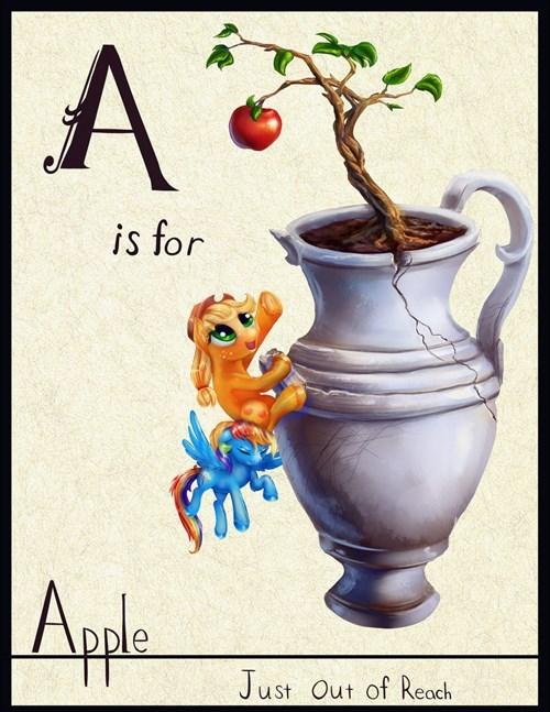 a is for applejack Fan Art apple - 8387011072