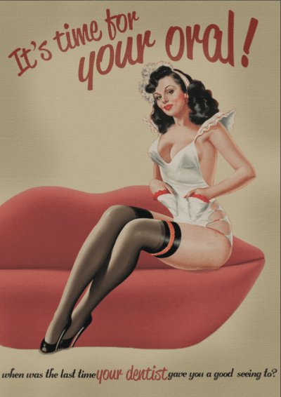 Sexy Ladies dentist ads funny vintage pin up - 8387067136