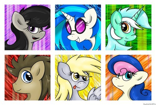 mane 6 background ponies - 8387079168