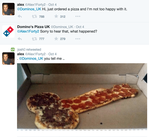 twitter pizza dominos dude parts food - 8387094016