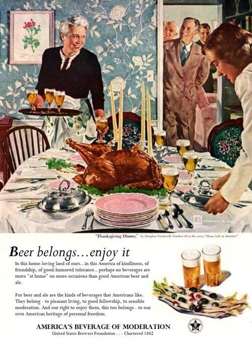beer thanksgiving ads funny vintage - 8387113728