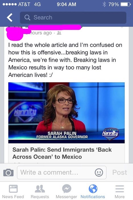 news facepalm Sarah Palin geography