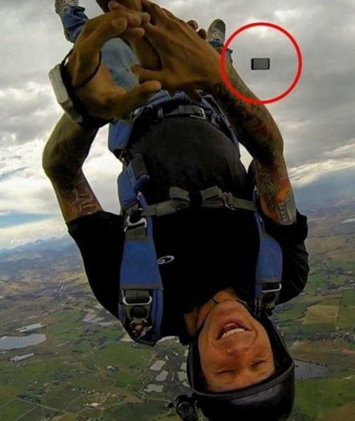 skydiving,whoops,phone,selfie