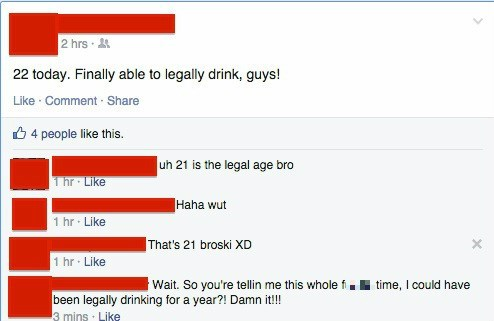 drinking alcohol facepalm failbook - 8387916800