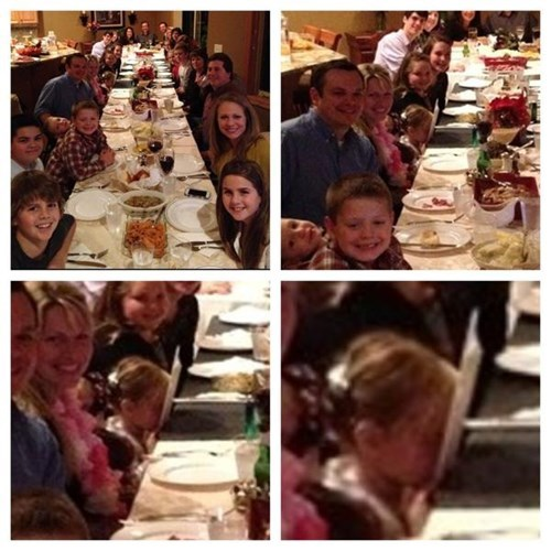 photobomb kids family photo parenting boredom dinner - 8387918848