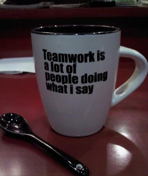 monday thru friday teamwork mug g rated - 8387960064