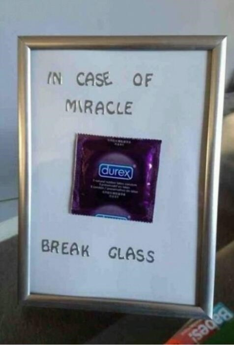 sex,in case of miracle,condoms