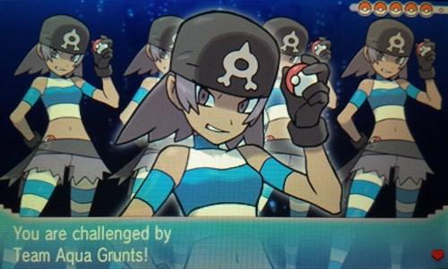 Pokémon ORAS team aqua - 8388118528