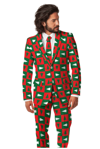 christmas poorly dressed christmas tree suit