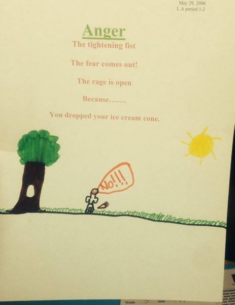 anger poem kids ice cream parenting poetry - 8388135936